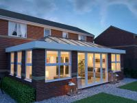 skyroom - nightime - crown conservatories Arborfield