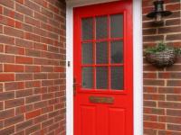 Poppy Red Apeer Composite door In Fleet