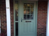Composite door and side panel in Chartwell green in  Fleet